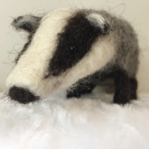 Craftwerks Felted Badger