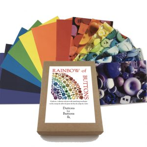 Rainbow of Buttons – 7 Card Set