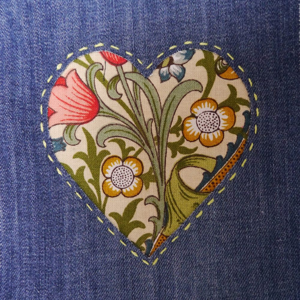 Heart applique mend