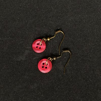 Red Button Earrings_©DuttonsforButtons