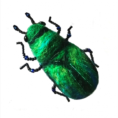 Tansy Beetle Brooch_©Fiona Gordon